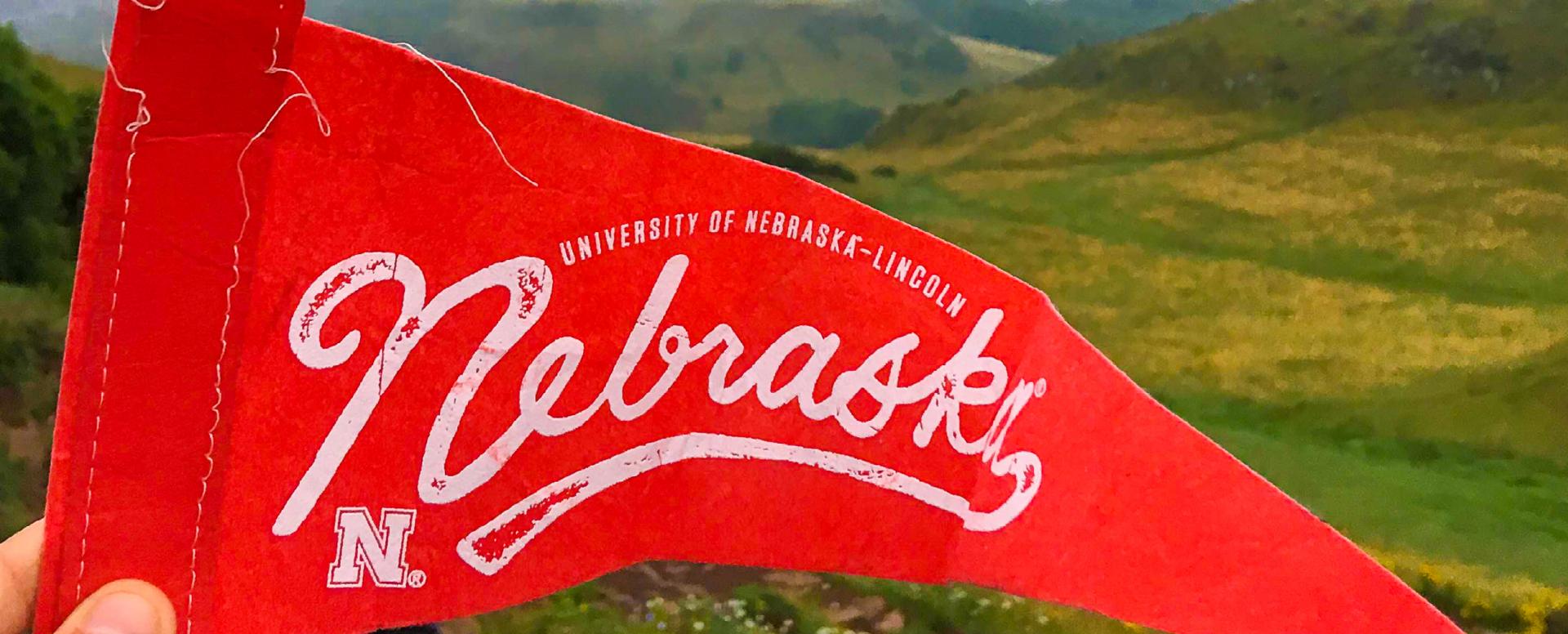 Nebraska pennant in Scotland
