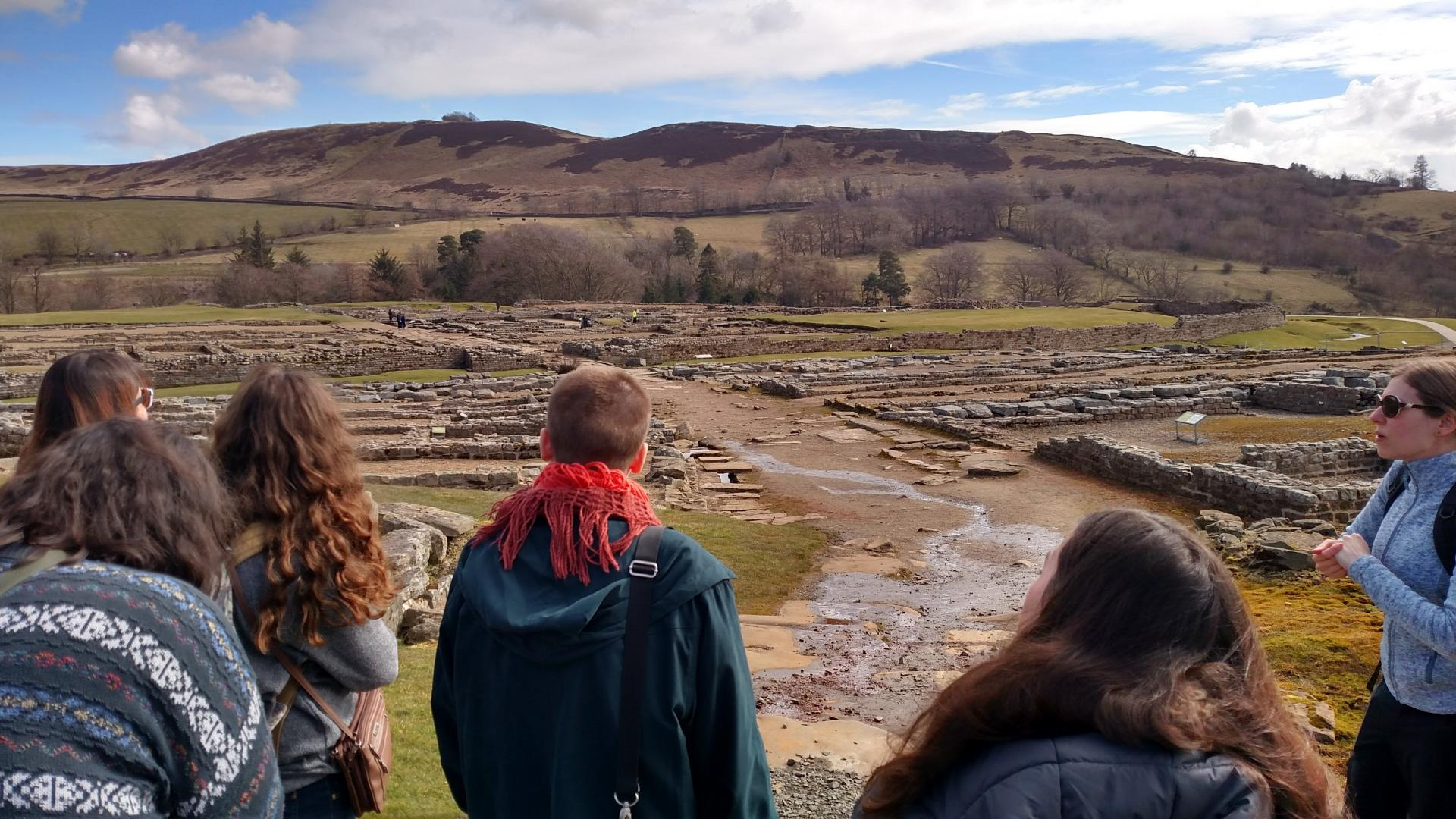 Students participate in a site visit on their Scotland education abroad program