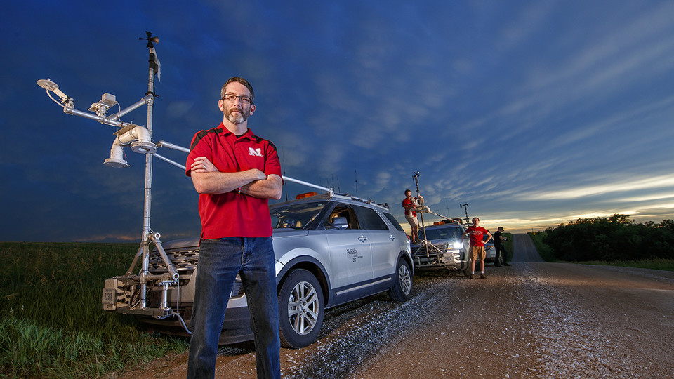 The drone-facilitated study of tornado formation being conducted by Nebraska's Adam Houston and colleagues is one of more than 20 research projects featured in the 2018-2019 Nebraska Research Report.