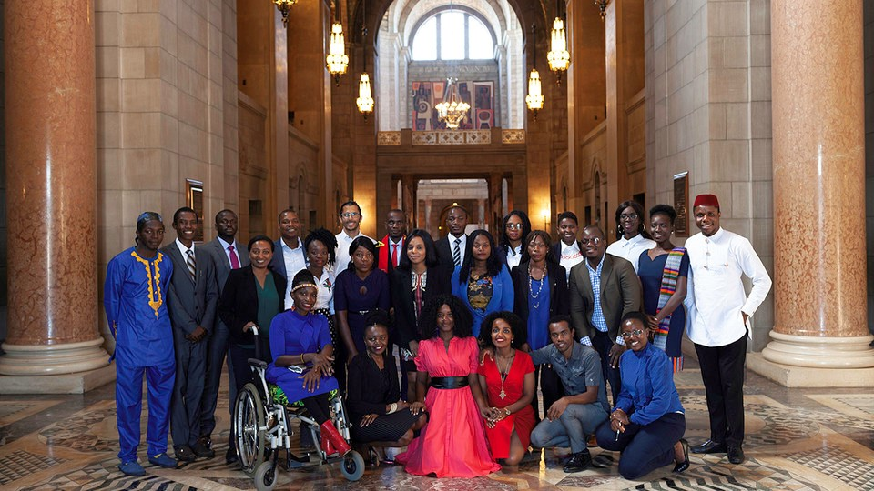Nebraska's 2019 Mandela Washington Fellows visited the Nebraska State Capitol on July 24, where they met with Lieutenant Governor Mike Foley and received a tour of the historic building.
