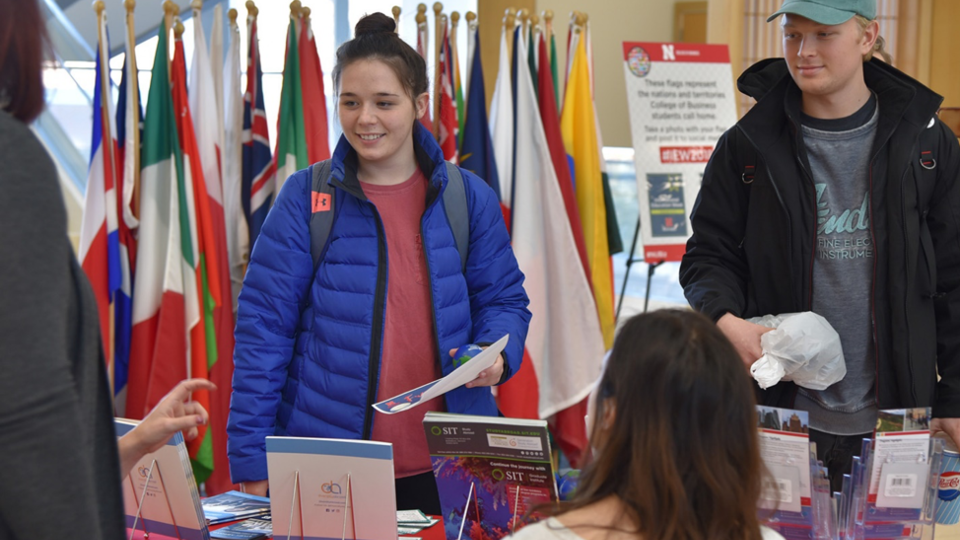 Students explore opportunities abroad during International Education Week.
