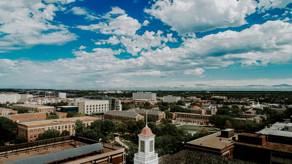 Aerial photo of University of Nebraska-Lincoln campus
