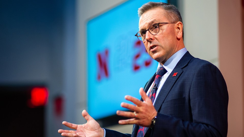 Chancellor Ronnie Green delivered the 2020 State of Our University address at Nebraska Innovation Campus on Feb. 14.