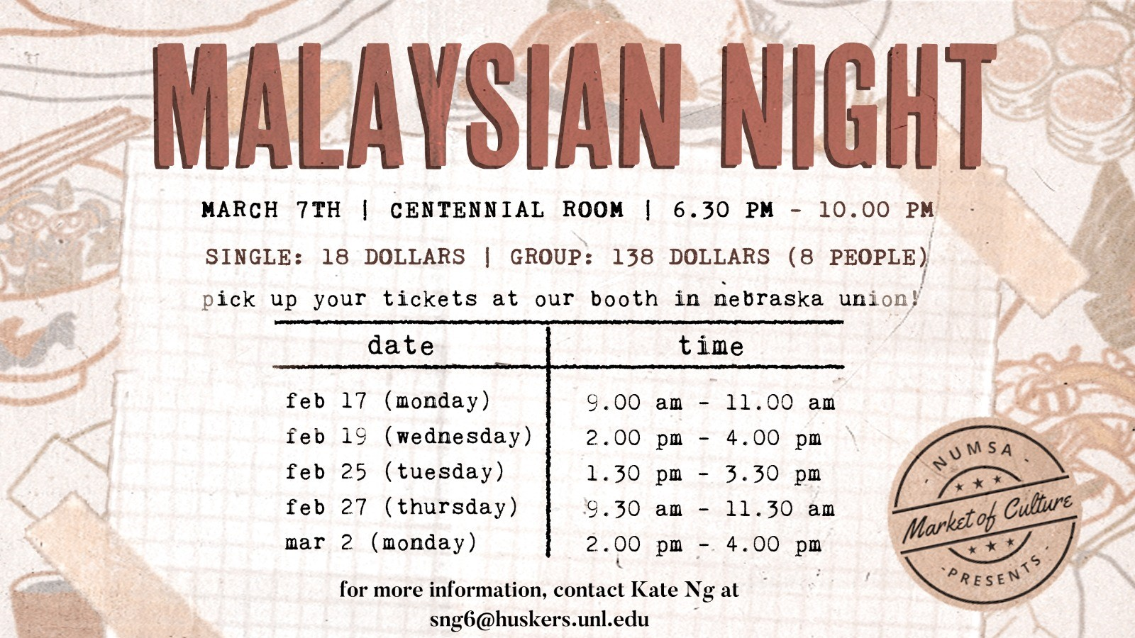 Malaysian Night Poster