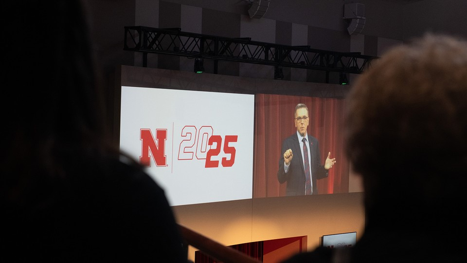 Chancellor Ronnie Green delivered the annual State of Our University address on Feb. 14 at Nebraska Innovation Campus. More than 400 attended the event.