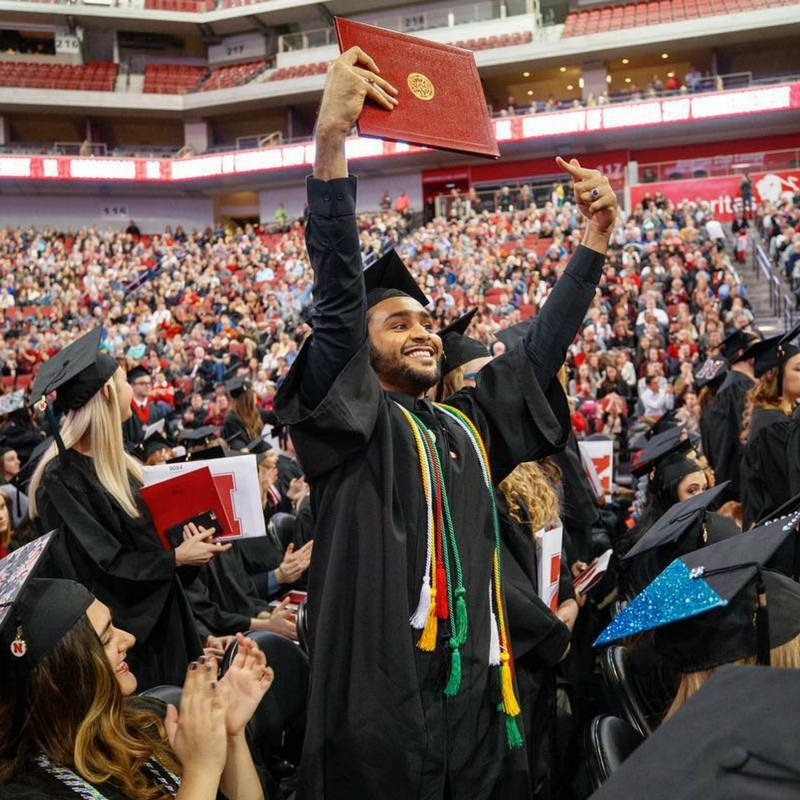 Nebraska graduates at commencement