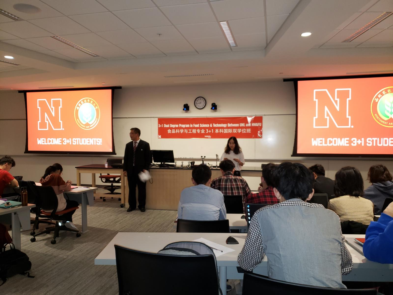 Weclome Orientation for NWAFU students at UNL