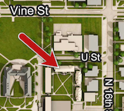 Seaton Hall pinpointed on campus map
