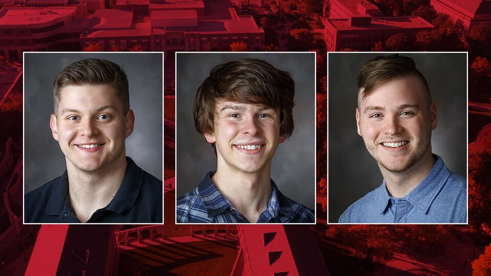 Alex Christensen, Ethan McDermott and Grant Paisley